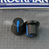 These are those cool rubberized control knobs that are only found on the Rockman Ultimatum DG, the Acoustic Guitar Pedal (both gray and blue footswitch) and the A12-50 Amp.